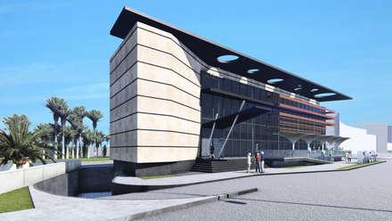 RM Center: Centros comerciales de estilo  por NOGARQ C.A.
