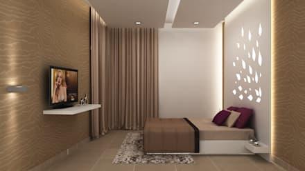 SALARPURIA SATTVA, MOCK UP APARTMENT, BANGALORE. (www.depanache.in): modern Bedroom by Depanache Interior Architects