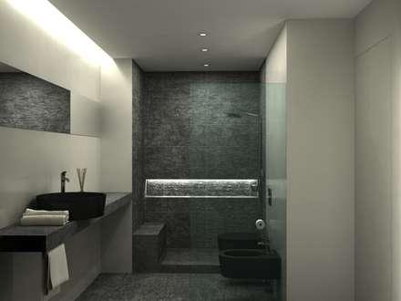 casa privata single man bagno in stile in stile moderno di aeon studio
