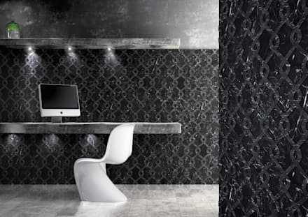 Office wallcovering: modern Study/office by Kreoo