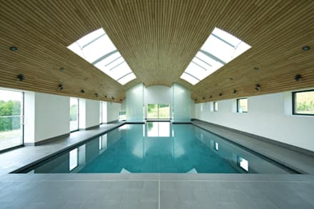 Little England Farm - Pool House: modern Pool by BBM Sustainable Design Limited