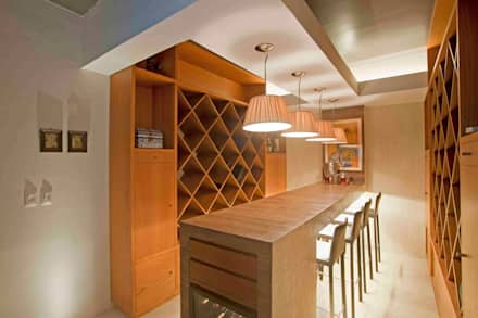 Casa Ulpi : Comedores de estilo moderno por DIN Interiorismo