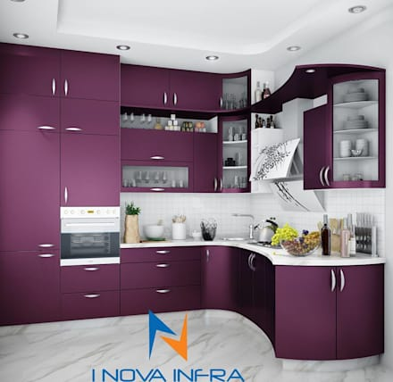 Kitchen designs modern kitchen by i nova infra