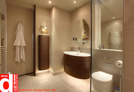 Stylish Wooden Bathroom Accents: asian Bathroom by Design Republic Limited