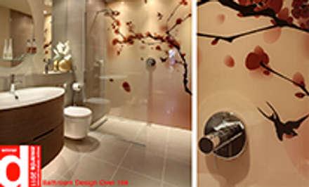 Cherry Blossom & Swallow Bathroom Wall Design: asian Bathroom by Design Republic Limited