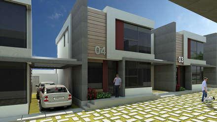 O Village: Casas de estilo moderno por NOGARQ C.A.