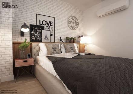 SIBEL SARIKAYA INTERIOR DESIGN OFFICE – Silas Holst & Johannes Nymark  House : endüstriyel tarz tarz Yatak Odası