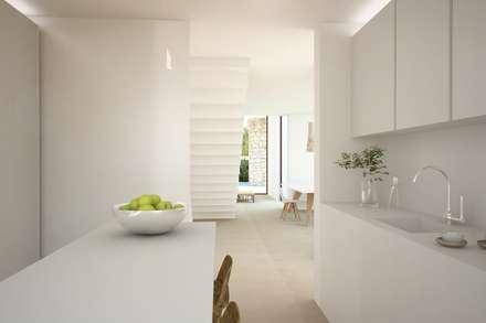 Residencial Anna Moraira: Cocinas de estilo minimalista de Nuam