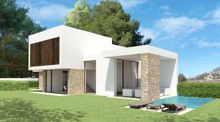 Residencial Anna Moraira: Casas de estilo minimalista de Nuam