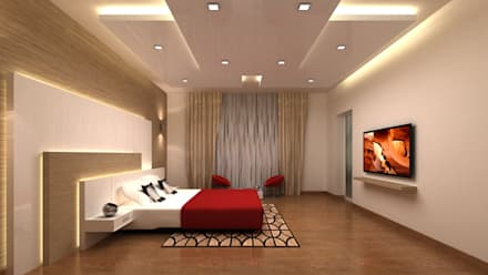 RESIDENTIAL INTERIORS AT TRICHY. (www.depanache.in): modern Bedroom by Depanache Interior Architects