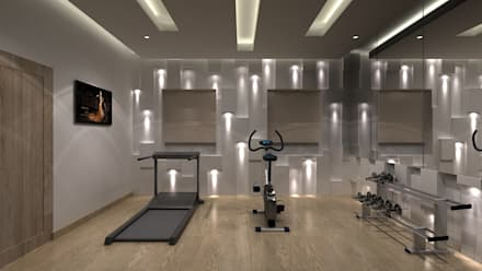 modern Gym by Depanache Interior Architects