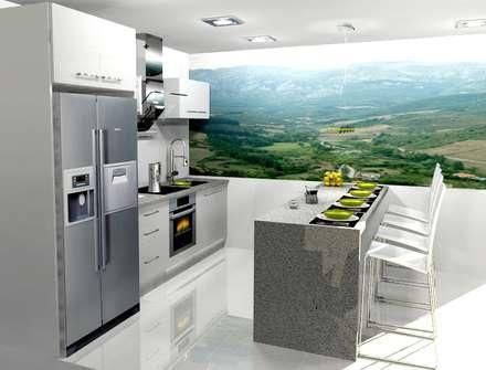 COCINA: Cocinas de estilo moderno por COCINAS ARCE C.A.