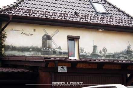 Wandbild auf Hauswand vom Eigenheim:  Museen von  Wandgestaltung Graffiti Airbrush von Appolloart