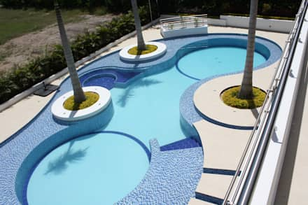 Piscinas ideas dise os y decoraci n homify for Imagenes de piletas de hormigon