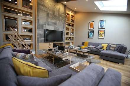 EIY HOUSE: modern Media room by Esra Kazmirci Mimarlik