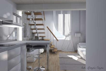 Progetto arredamento di interni mini appartamento: Sala da pranzo in stile in stile Moderno di Arch. Giorgia Congiu