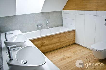 Dom dla Rodziny 2+2: styl , w kategorii Łazienka zaprojektowany przez GENERO