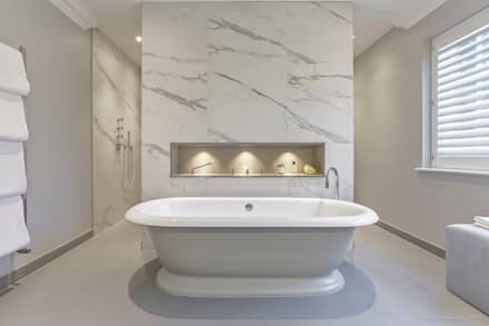 Family Home in Winchester's Sleepers Hill: classic Bathroom by Martin Gardner Photography
