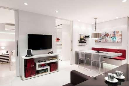 Alpha Park - Alphaville: Salas de estar modernas por Estúdio Plano