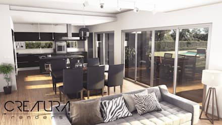 Galeria 2: Livings de estilo moderno por Creatura Renders