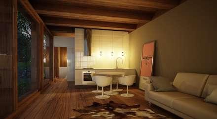 Casa Modular - Sala: Salas de estar escandinavas por Maqet