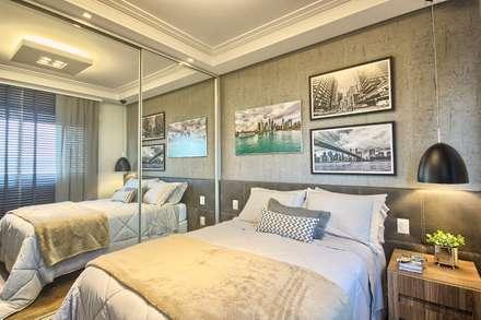 Apartamento - pé direito duplo: Quartos  por Spengler Decor