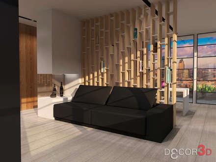 SALA TV : Salas multimedia de estilo moderno de Nuria Decor3D
