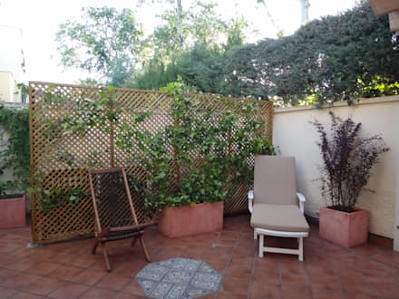 rediseño de jardín de chalet adosado: Jardines de estilo moderno de Markoverde Paisajismo