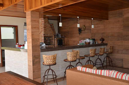 rustic Pool by Solange Figueiredo - ALLS Arquitetura e engenharia