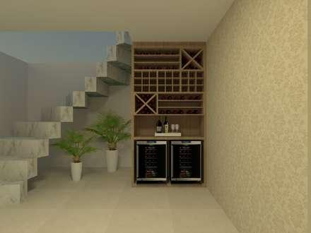 Bodegas de estilo  por Beatrice Oliveira - Tricelle Home, Decor e Design