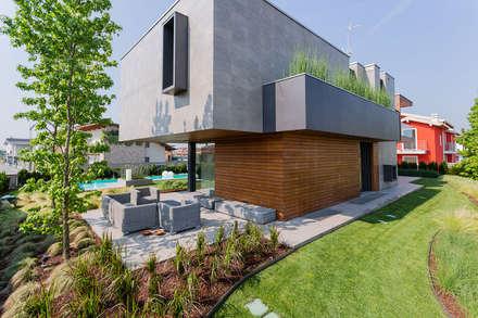Progetto casa legno giardino