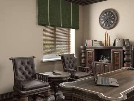 Дом в вьетнамском стиле: Рабочие кабинеты в . Автор – Студия дизайна 'New Art'