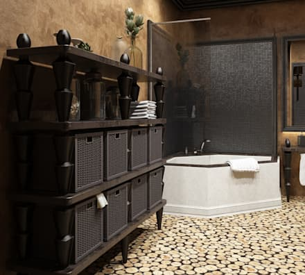 Дом в вьетнамском стиле: Ванные комнаты в . Автор – Студия дизайна 'New Art'