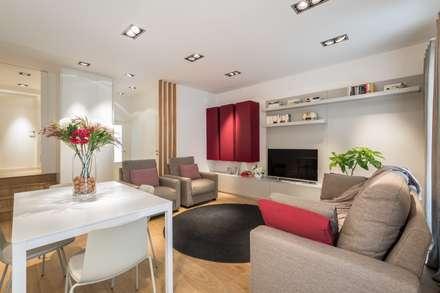 saln aprovechado al milmetro salones de estilo moderno de laura yerpes estudio de interiorismo - Decoracion Moderna