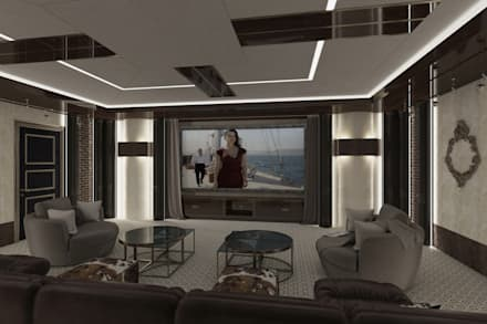 Home Cinema Hall: eclectic Media room by UV Project