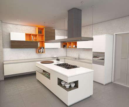 : Cocinas de estilo moderno por Politan Arquitectura+Diseño S.A.S.