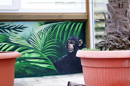 tropical Garage/shed by  Wandgestaltung Graffiti Airbrush von Appolloart