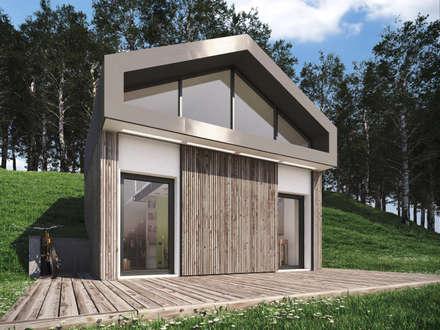 Microhouse relazione: Case in stile in stile Moderno di 3d-arch