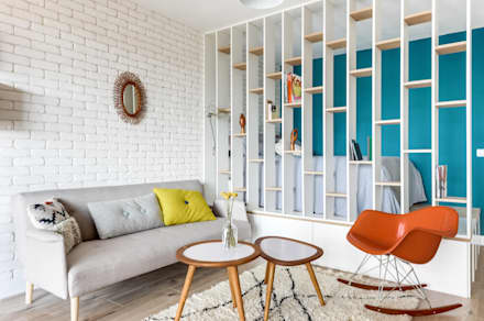 PROJET VOLTAIRE, Agence Transition Interior Design, Architectes: Carla Lopez et Margaux Meza: Salon de style de style Moderne par Transition Interior Design