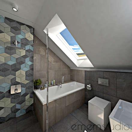 scandinavian Bathroom by EMEMSTUDIO