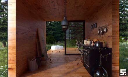 Forest house: Cocinas de estilo industrial por SF Render