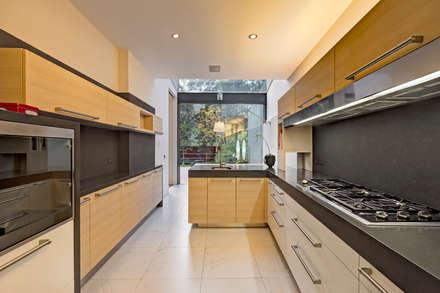 Casa JRQZ : Cocinas de estilo moderno por Lopez Duplan Arquitectos