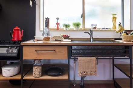 オーダーキッチン: 家具工房一木が手掛けたキッチンです。