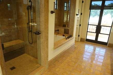 Golden Lip Mother of Pearl Bathroom: tropical Bathroom by ShellShock Designs