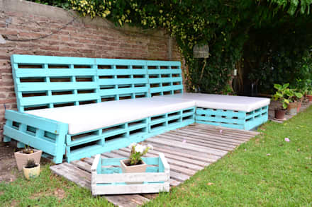 Living exterior: Jardines de estilo moderno por epb arquitectura