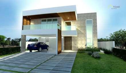 modern Houses by TOAR Arquitetura