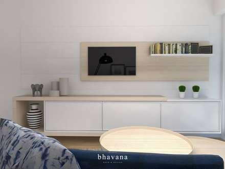 Living Comedor: Livings de estilo escandinavo por Bhavana