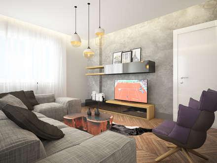 Dmd Design – Oturma odası: modern tarz Oturma Odası