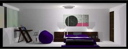 P1: Cuartos de estilo moderno por Espacio Estudio de Arquitectura
