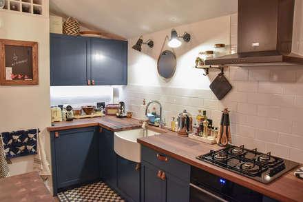 The Brixton Kitchen: modern Kitchen by NAKED Kitchens